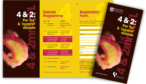 4 and 2 debate leaflet